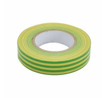 Изолента ПВХ 15мм, 20м желто-зеленая